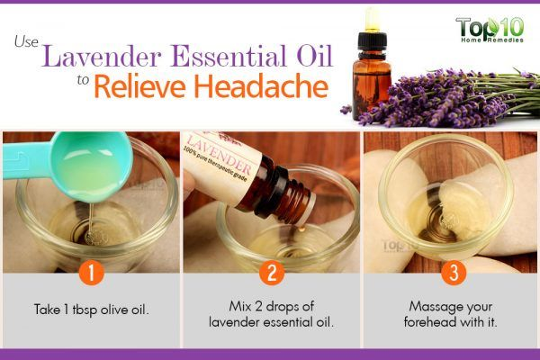 use lavender essential oil to relieve headache