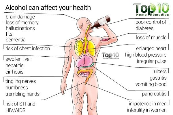 What Organs Can Drinking Alcohol Affect