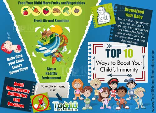 10 ways to boost your child's immun ity