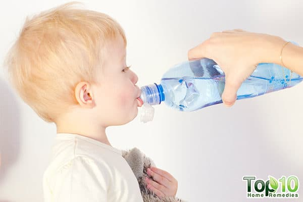 increase toddler's fluid intake to relieve gas pain