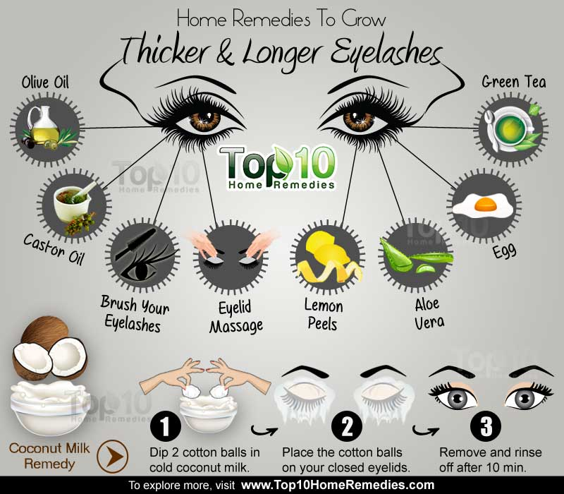 home remedies for longer lashes