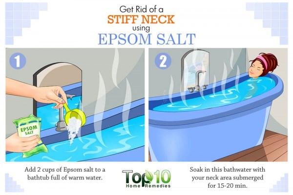 Epsom salt soak for stiff neck