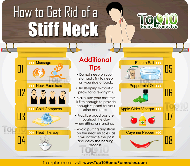 how to get rid of a stiff neck top 10 home remedies With best way to sleep with sore neck