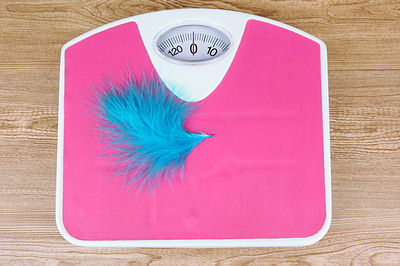 get on weighing scale