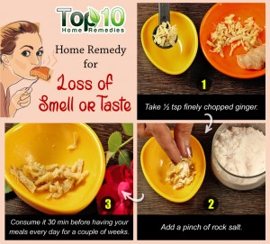 loss of smell and taste home remedy