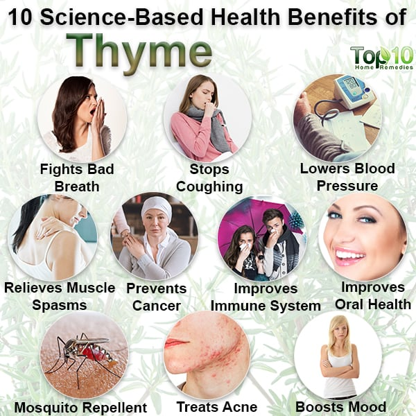 science-based health benefits of thyme