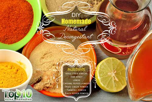 DIY natural decongestant ingredients