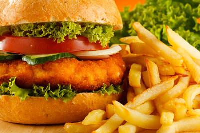 fries burger fast food