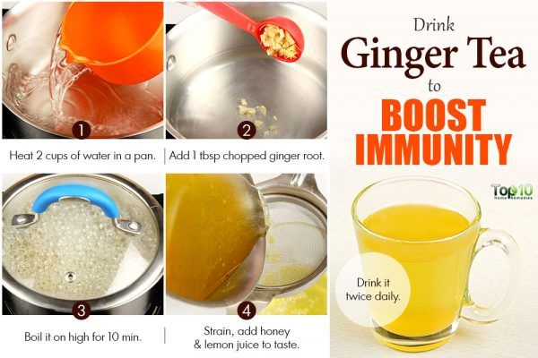 ginger tea to boost immunity