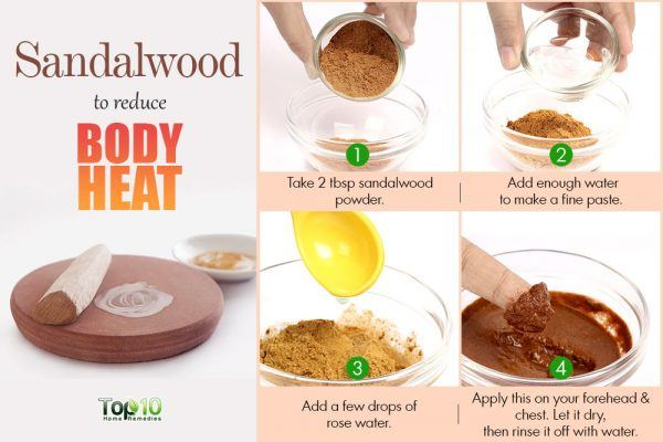sandalwood to reduce body heat