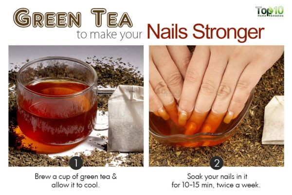 green tea to make nails stronger