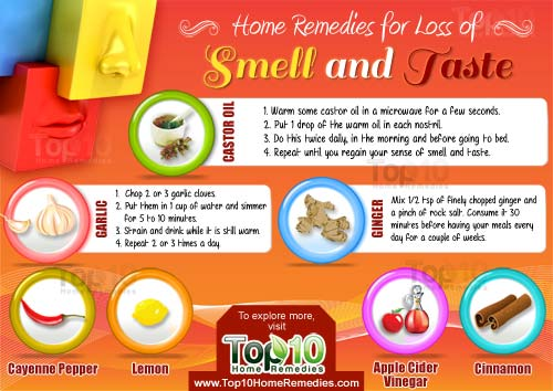 home remedies for loss of smell and taste