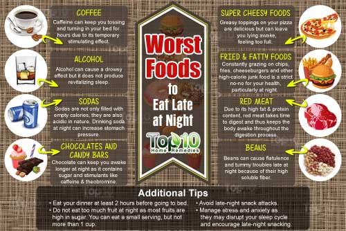 8 thực phẩm gây hại cho sức khỏe khi ăn khuya