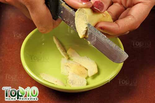 DIY ginger tea step2