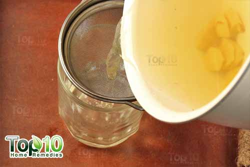 DIY ginger tea step6