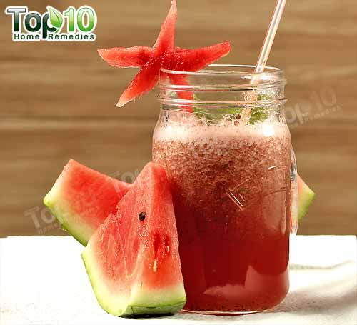 DIY hydrating watermelon smoothie wh