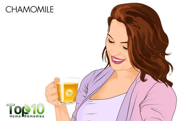 drink chamomile tea to reduce stress