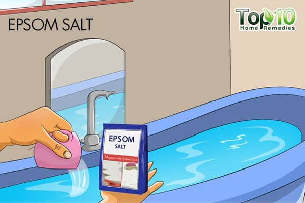 Epsom salt bath to reduce stress