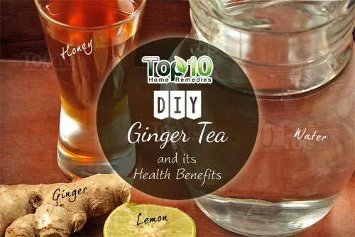 DIY ginger tea ingredients