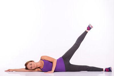 lying side leg raises