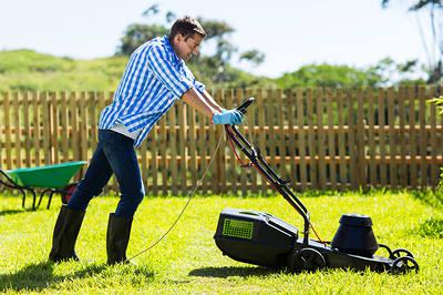 mowing garden