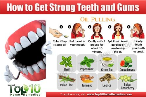maintain strong teeth and gum