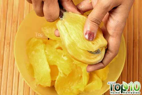 DIY raw mango drink step2