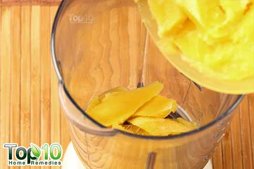 DIY raw mango drink step5