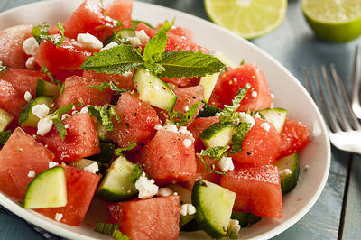Healthy Organic Watermelon Salad-opt