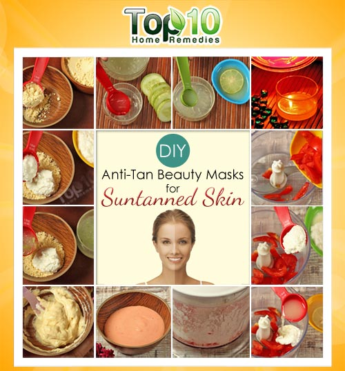 DIY anti tan face mask
