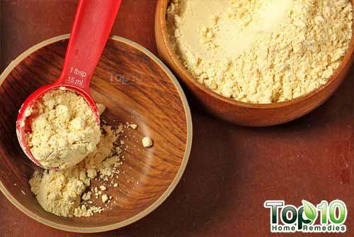 gram flour antitan masks step1