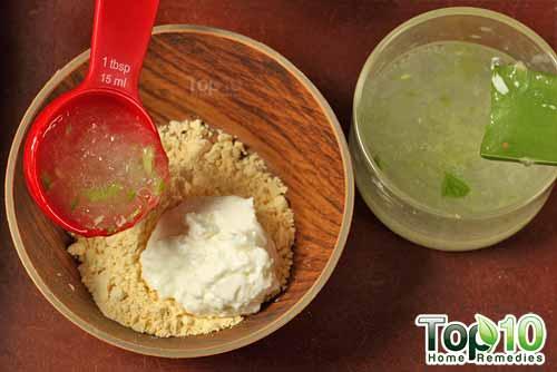 gram flour antitan mask step3