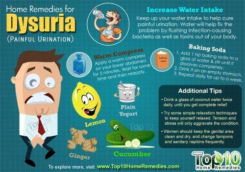 Home Remedies for Dysuria (Painful Urination) - Inspiration