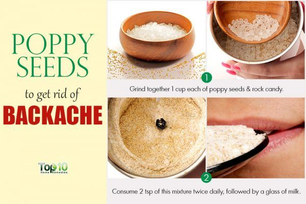 take poppy seeds for backache
