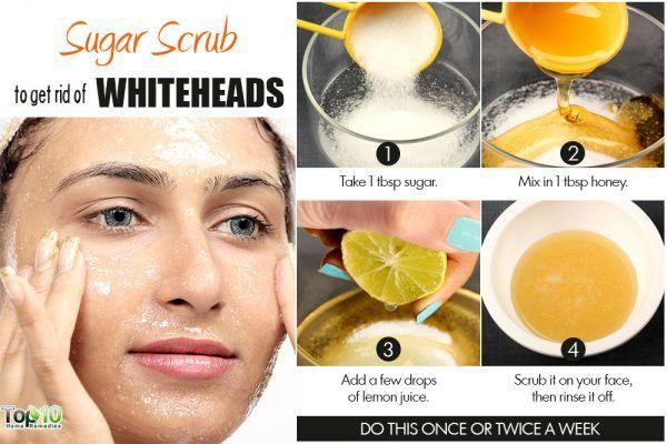 sugar scrub to remove whiteheads