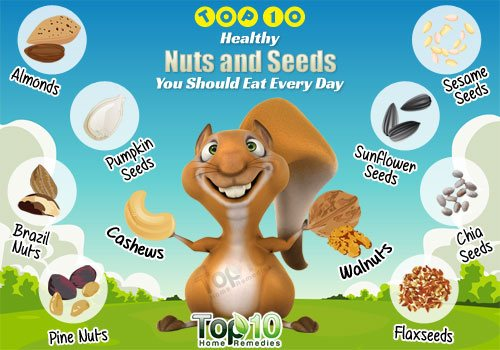 top 10 healthy nuts and seeds