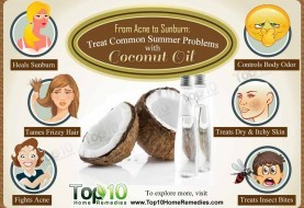 From Acne to Sunburn: Treat Common Summer Problems with Coconut Oil