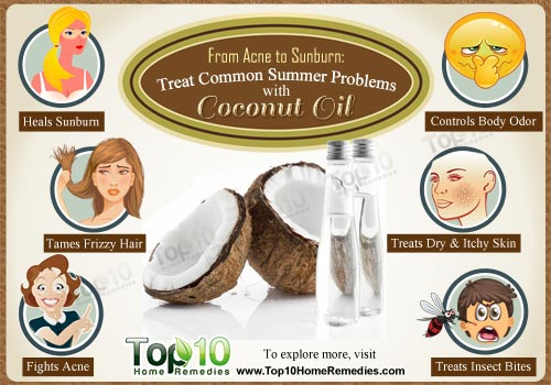 treat summer problems with coconut oil