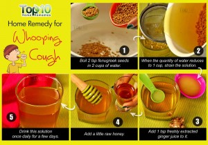 whooping cough remedy using fenugreek and ginger