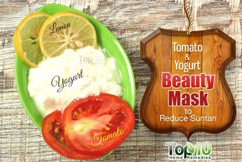 Tomato and Yogurt Beauty Mask to Reduce Suntan