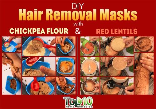 DIY hair removal masks