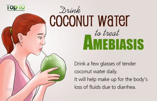 coconut water for amebiasis