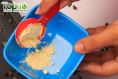 DIY chickpea flour hair removal mask step1