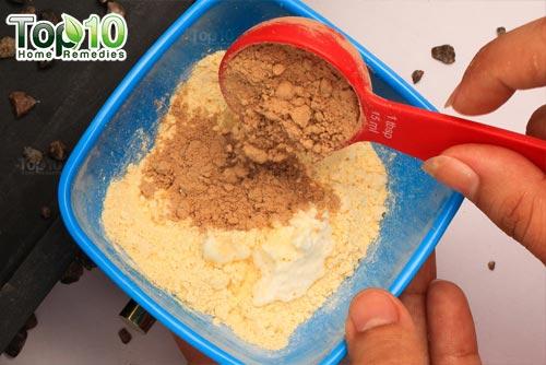 DIY chickpea flour hair removal mask step3