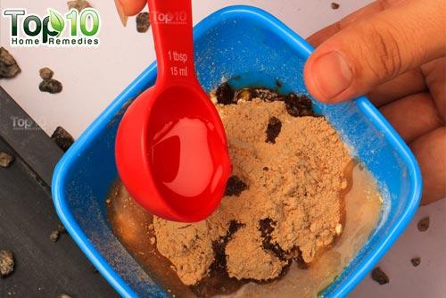 DIY chickpea flour hair removal mask step5