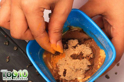 DIY chickpea flour hair removal mask step6