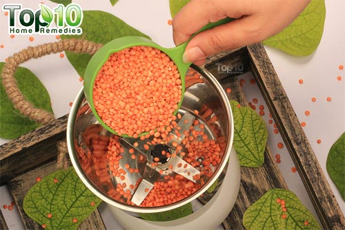 DIY red lentil hair removal mask step1