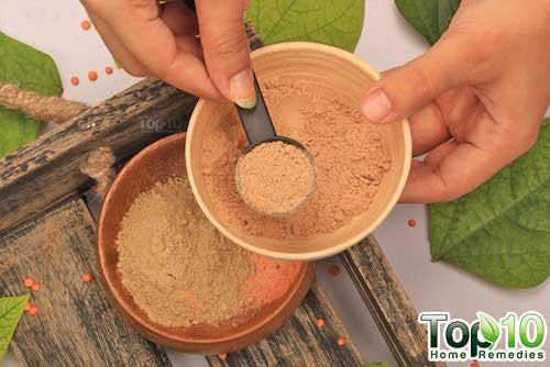DIY red lentils hair removal mask step4