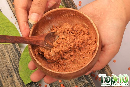DIY red lentils hair removal mask mix