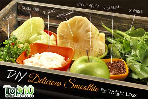 DIY weight loss smoothie ingredients